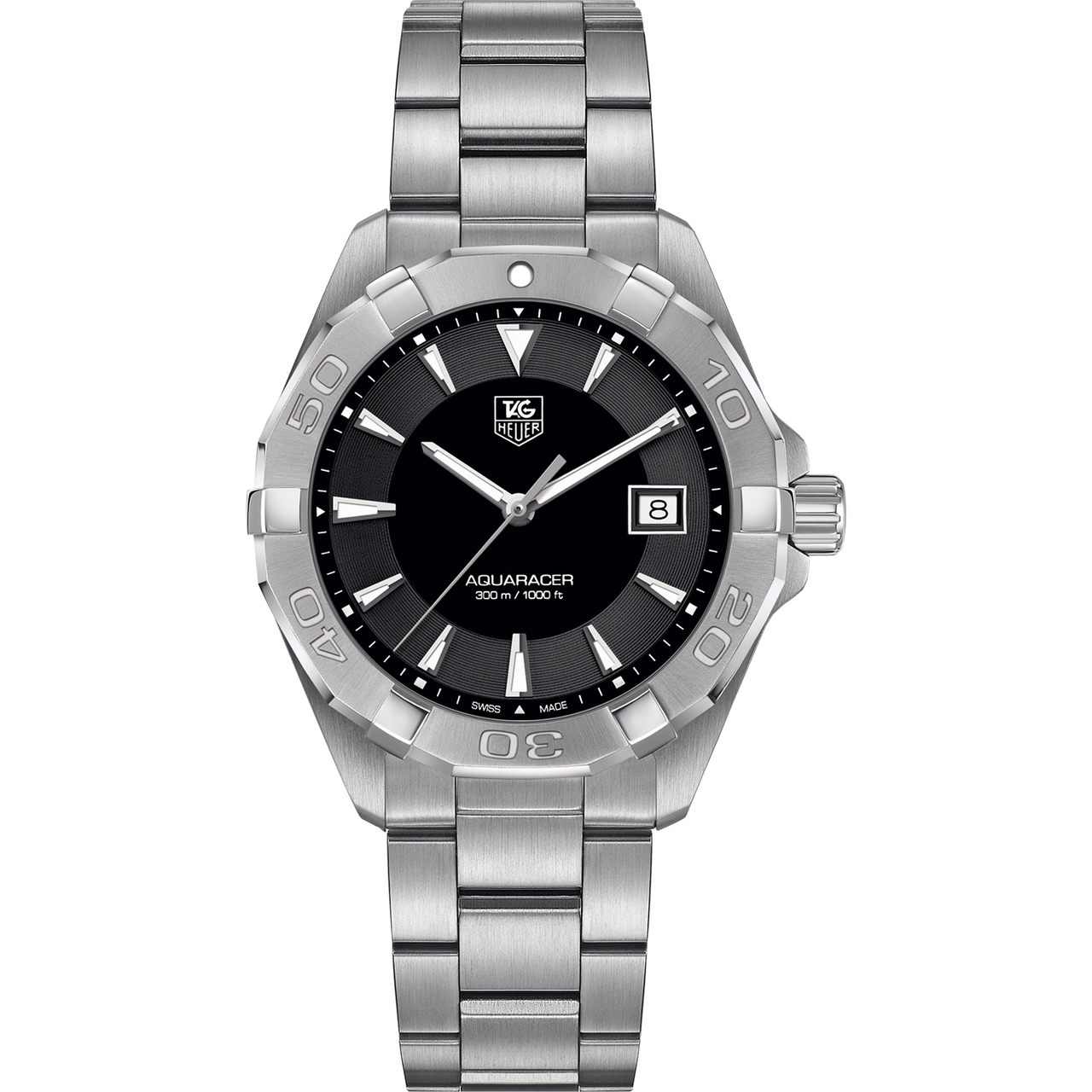 TAG Heuer Men's Aquaracer Automatic Movement Black Sunray Dial Watch