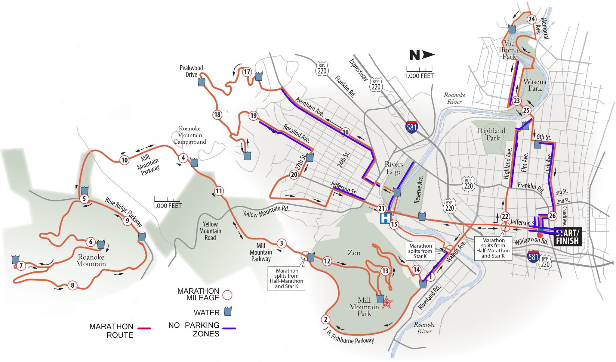 Road Closures Postcard Map